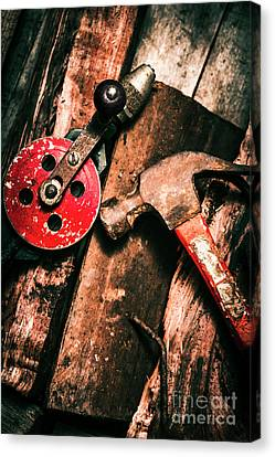 Close Up Of Old Tools Canvas Print by Jorgo Photography - Wall Art Gallery