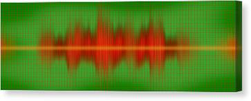 Close-up Of Sound Waves Canvas Print by Panoramic Images