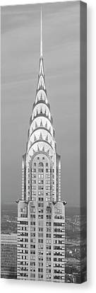 Historic Site Canvas Print - Close Up Of The Chrysler Building At Sunset. It Is The View From 42nd Street And 5th Avenue. by Panoramic Images