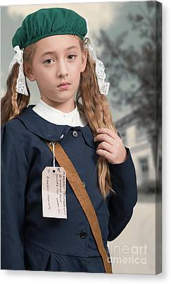 Close Up Of War Time Evacuee Canvas Print by Amanda Elwell