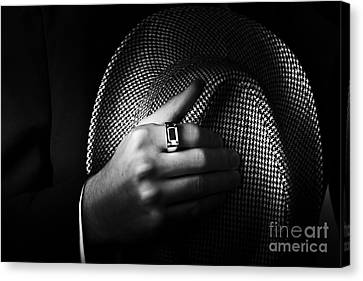 Close-up Shot Of A Male Ring Hand Holding Hat Canvas Print by Jorgo Photography - Wall Art Gallery