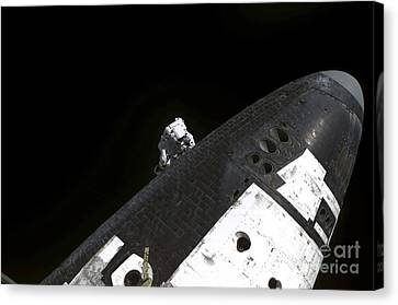 Close-up View Of The Nose Cone On Space Canvas Print by Stocktrek Images