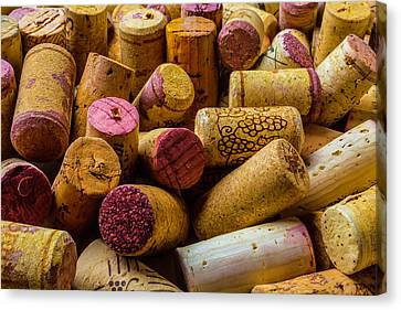Close Up Wine Corks Canvas Print by Garry Gay