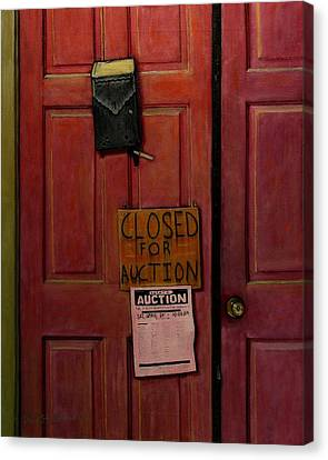 Closed For Auction Canvas Print by Doug Strickland