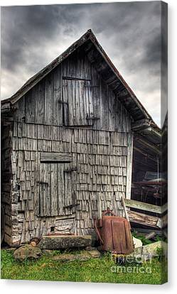 Old Barns Canvas Print - Closed For Business by Pete Hellmann
