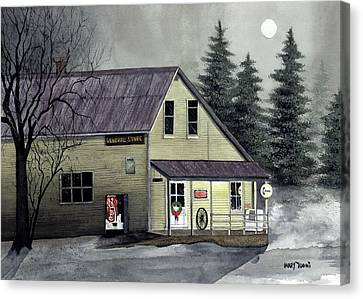 Closed For Christmas Canvas Print by Mary Tuomi