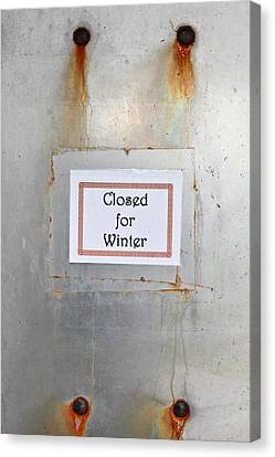 Closed For Winter Canvas Print by Tom Gowanlock