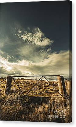 Closed Gates And Open Paddocks Canvas Print