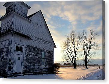 Indiana Landscapes Canvas Print - Closed On Sunday by Ed Smith
