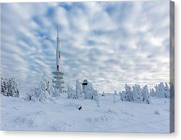 Closer To The Sky - Brocken Peak In Winter Canvas Print by Andreas Levi