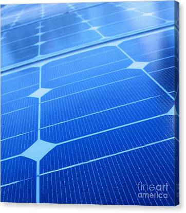Closeup Of Solar Panels Canvas Print