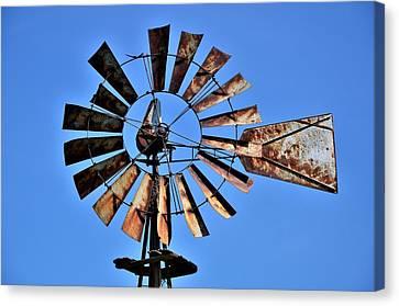 Closeup Of Windmill Canvas Print