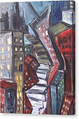 Clostridium City  Canvas Print by Jon Baldwin  Art