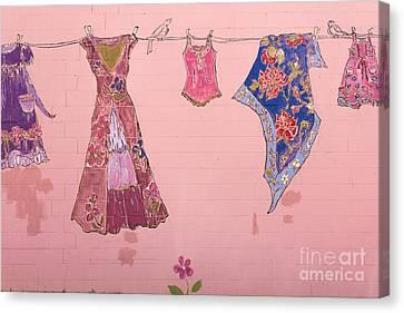 Clothes Line Mural Burlington Vermont Canvas Print