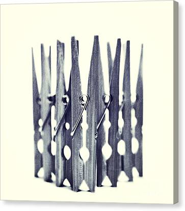 Clothespin Canvas Print by Priska Wettstein