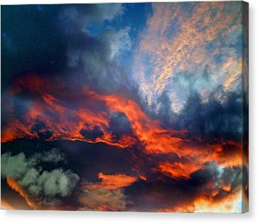 Cloud Abstract 1 Canvas Print by Michael Durst