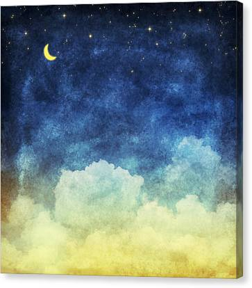 Cloud And Sky At Night Canvas Print by Setsiri Silapasuwanchai