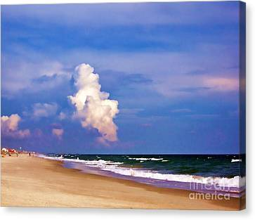 Canvas Print featuring the photograph Cloud Approaching by Roberta Byram