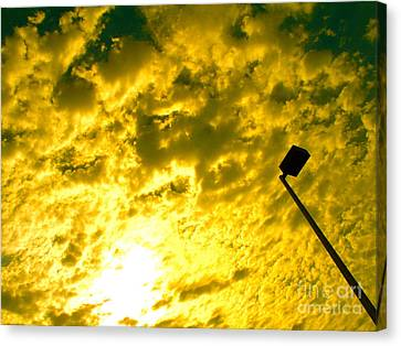 Cloud Battles In The Sky Canvas Print