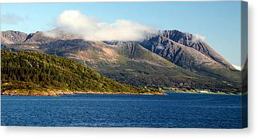 Cloud-capped Mountains Canvas Print by Laurel Talabere