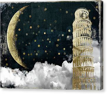 Cloud Cities Pisa Italy Canvas Print by Mindy Sommers
