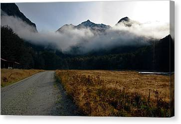 Canvas Print featuring the photograph Cloud Clad Caples by Odille Esmonde-Morgan