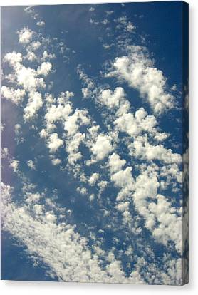 Cloud Clusters Canvas Print by Kimberly Morin