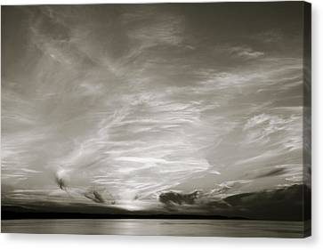 Cloud Drama Bw Canvas Print