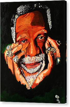 Cloud Eleven - Bill Russell Canvas Print by Saheed Fawehinmi
