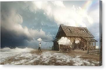 Old Barns Canvas Print - Cloud Farm by Cynthia Decker