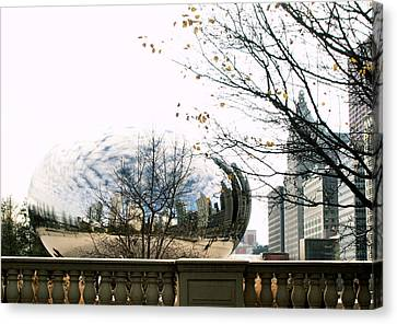 Cloud Gate - 1 Canvas Print by Ely Arsha