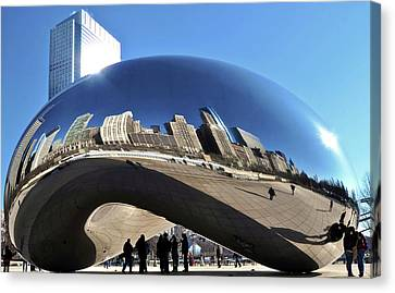 Canvas Print featuring the photograph Cloud Gate In The Sun by Sheryl Thomas