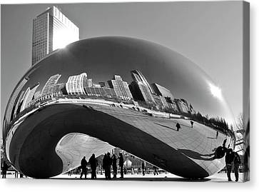 Canvas Print featuring the photograph Cloud Gate by Sheryl Thomas