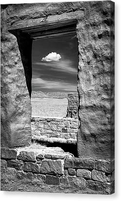 Canvas Print featuring the photograph Cloud In The Window by James Barber