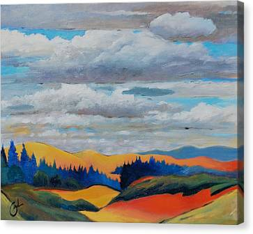 Cloud Lines Canvas Print by Gary Coleman