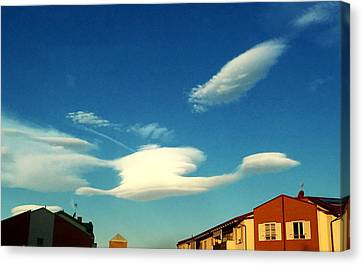 Cloud Canvas Print by Niki Mastromonaco