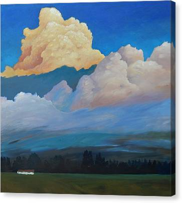 Canvas Print featuring the painting Cloud On The Rise by Gary Coleman