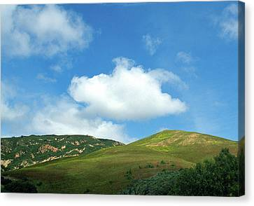 Cloud Over Hills In Spring Canvas Print by Kathy Yates