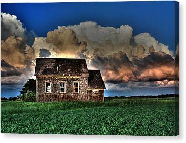 Cloud Over One Room School Canvas Print