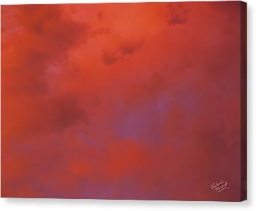 Cloud Patterns 4 Canvas Print by Leland D Howard