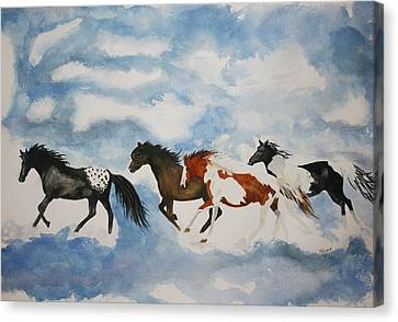 Cloud Runners Canvas Print