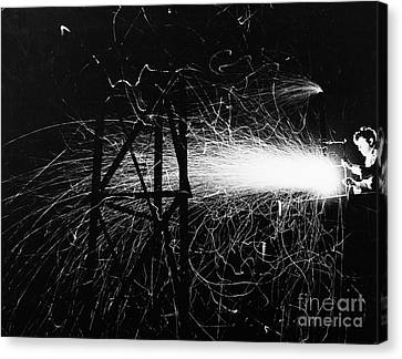Canvas Print featuring the photograph Cloud Seeding, 1948 by Granger