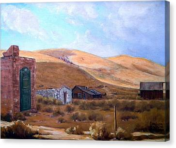 Cloud Shadows Over Bodie California Canvas Print by Evelyne Boynton Grierson