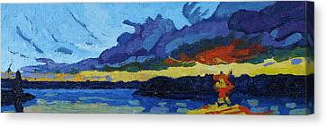 Cloud Street Sunset Canvas Print by Phil Chadwick