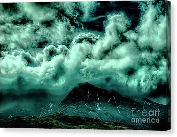 Cloud Strewn - Mysterious Skies Canvas Print by Christopher Maxum