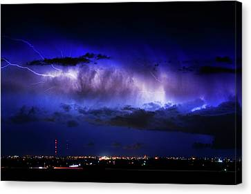 Cloud To Cloud Lightning Boulder County Colorado Canvas Print by James BO  Insogna