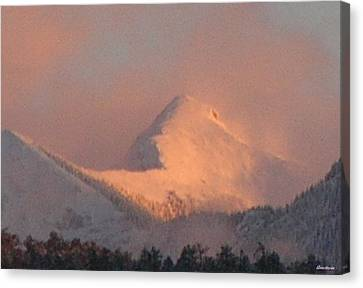 Canvas Print featuring the photograph Cloud Veils by Anastasia Savage Ealy