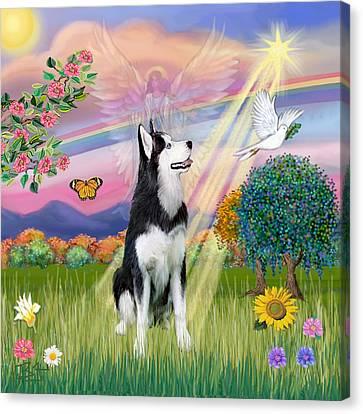 Cloudangel #1 - Siberian Husky Canvas Print