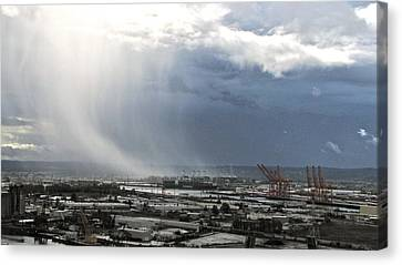 Cloudburst - Tacoma Canvas Print by Sean Griffin