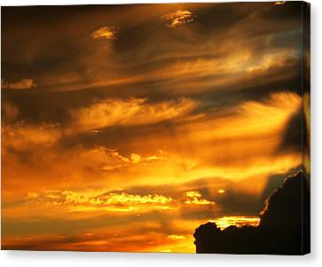 Clouded Sunset Canvas Print by Kyle West